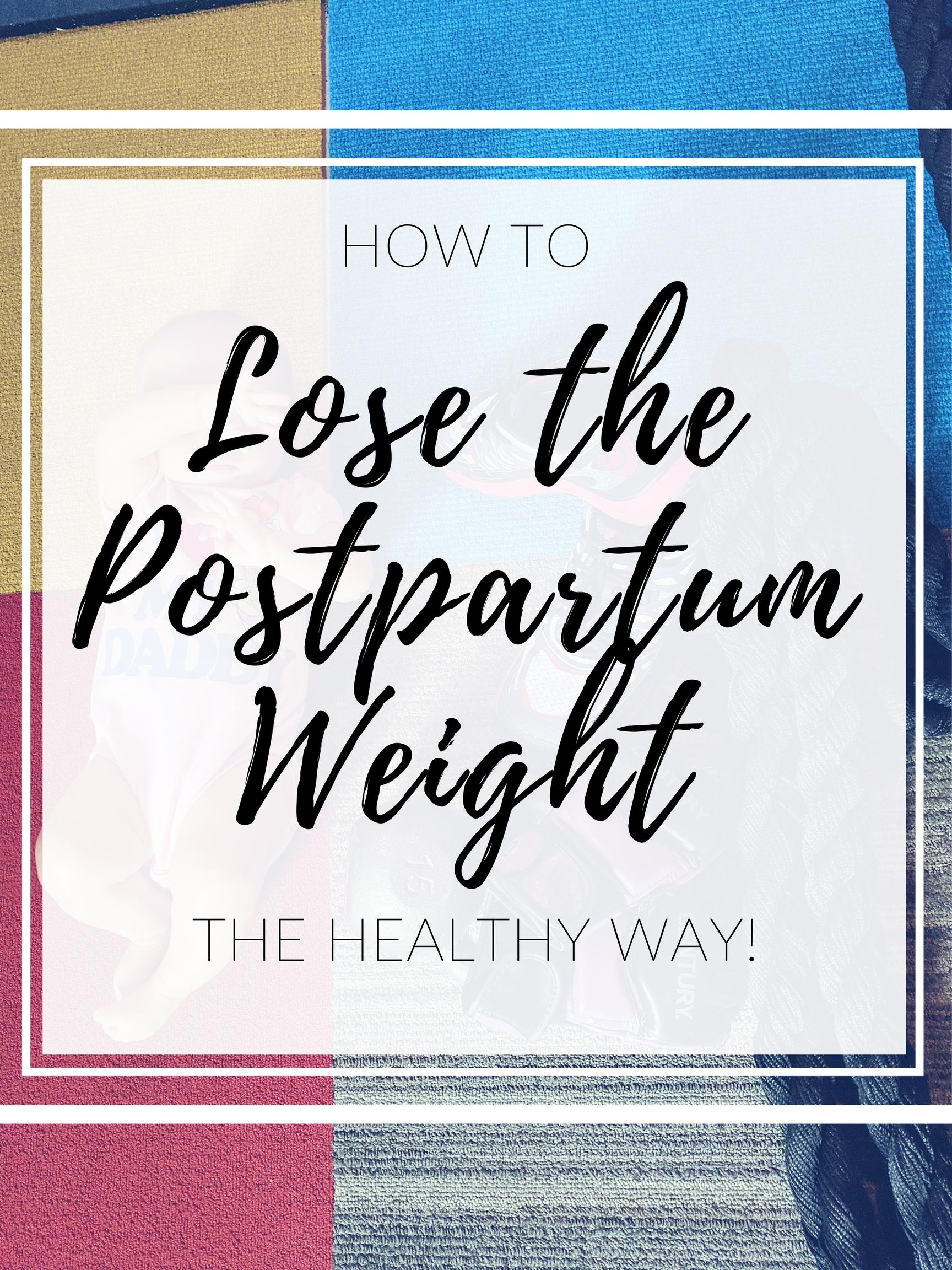 postpartum weight loss help